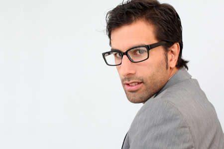 Portrait of businessman with eyeglasses photo