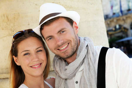 Portrait of smiling couple in town Stock Photo - 13808572
