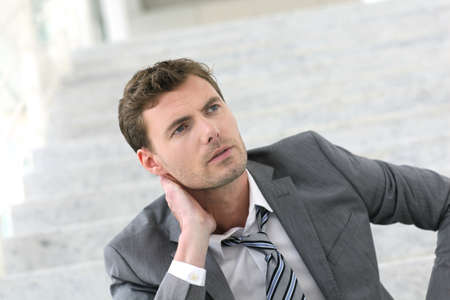 Portrait of exhausted businessman because of job loss Stock Photo - 13904866