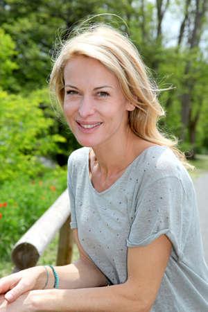 fourties: Portrait of beautiful blond woman