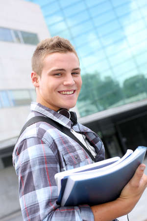 Portrait of cheerful student at college Stock Photo - 15125073
