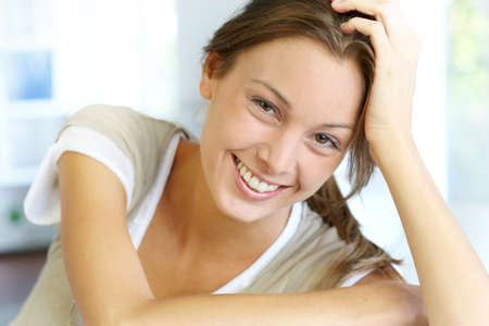Portrait of beautiful smiling woman Stock Photo - 15278250