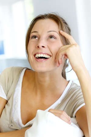Portrait of beautiful smiling woman Stock Photo - 15279241