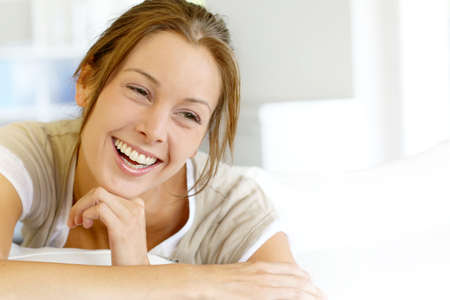 Portrait of beautiful smiling woman Stock Photo - 15278154