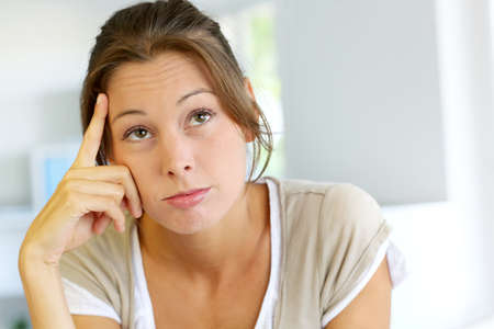 Closeup of woman with thoughtful look Stock Photo - 15279242