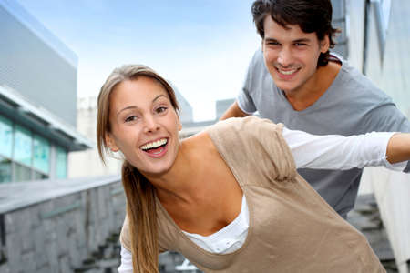 je�ne: Les jeunes de s'amuser dans un coll�ge campus