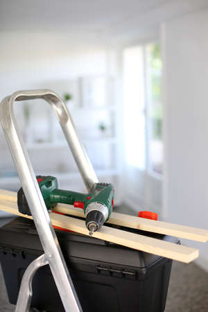 Closeup on tools for redoing house Stock Photo - 15611115