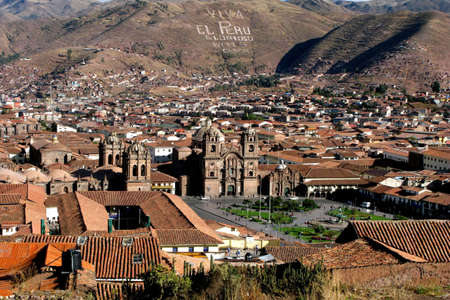 cuzco: General view of the city of Cuzco, Peru