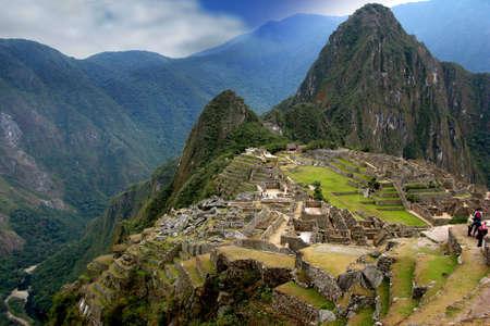 machu picchu: Ancient inca lost city of Machu Picchu, Peru Stock Photo