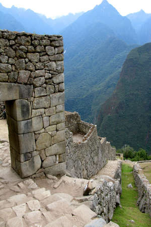 civilizations: Ancient inca lost city of Machu Picchu, Peru Stock Photo