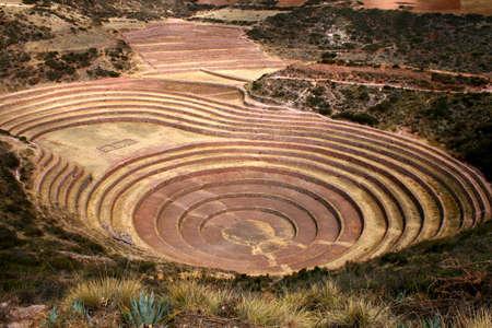 agronomic: Inca Agronomic site of Moray, Peru