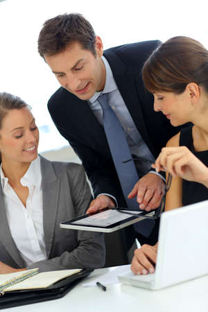 Business team on a project meeting Stock Photo - 15811144