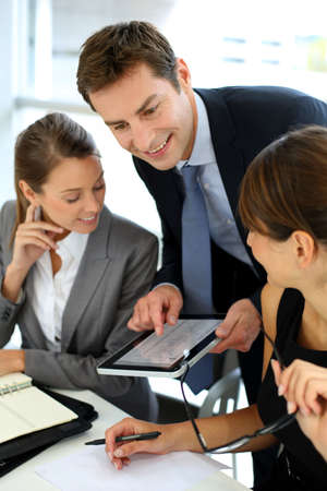 Business team on a project meeting Stock Photo - 15811155