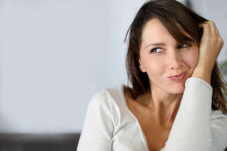 Sweet brunette woman with attractive look Stock Photo - 15831888
