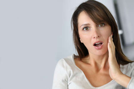 Woman with surprised expression on her face Stock Photo - 15831887