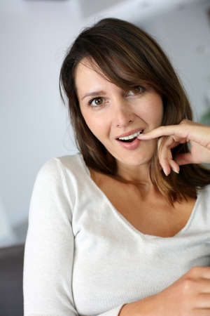 Woman with surprised expression on her face Stock Photo - 15831969