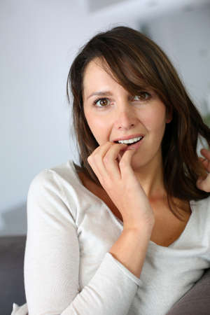 Woman with surprised expression on her face Stock Photo - 15831994