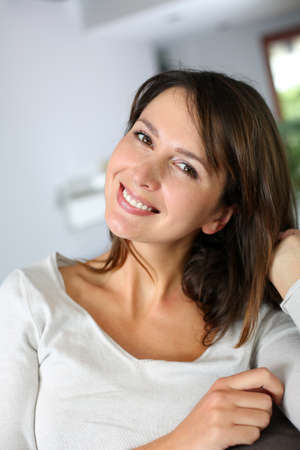 Attractive brunette girl looking at camera Stock Photo - 15831968