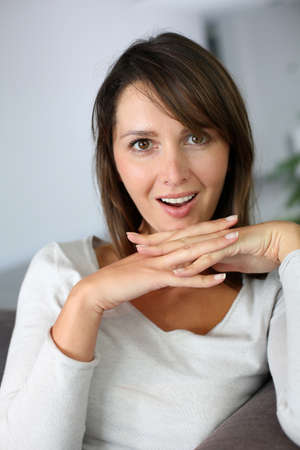 Woman with surprised expression on her face Stock Photo - 15831993