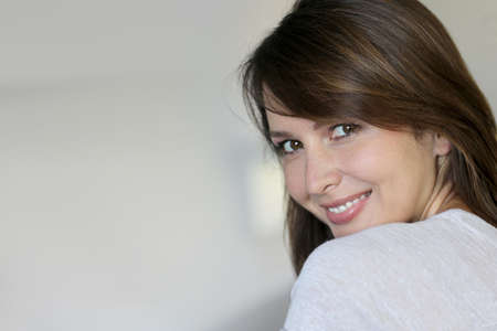 Closeup of attractive woman with sweet smile Stock Photo - 15849269