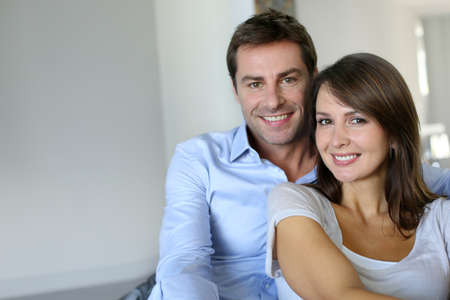 Portrait of married couple at home photo