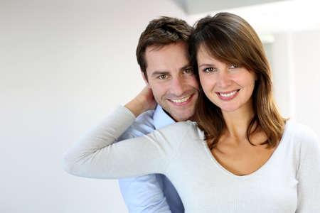 couple: Portrait of married couple at home Stock Photo