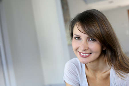 Portrait of attractive young woman photo