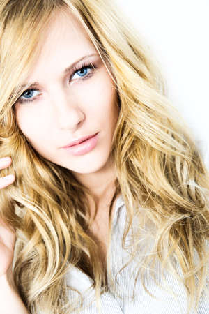 Portrait of blond woman with long hair Stock Photo - 17191060