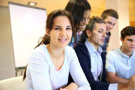 Portrait of student attending training class Stock Photo - 17335924