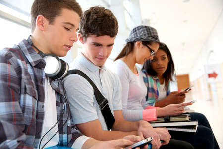 Youth and technology at school Stock Photo - 17335868