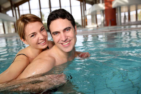 wellness center: Couple enjoying bathtime in spa resort