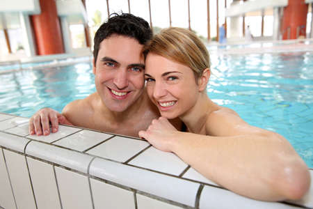 wellness center: Couple having fun in spa center