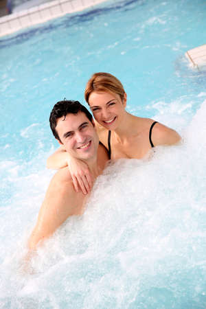 thalasso: Couple enjoying jacuzzi in spa center