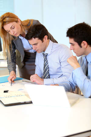 Group of people on business project presentation Stock Photo - 17826151