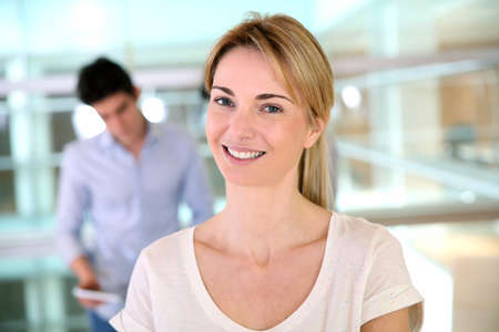 Portrait of cheerful start-up worker photo