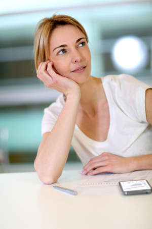 officeworker: Office-worker with thoughtful look  Stock Photo