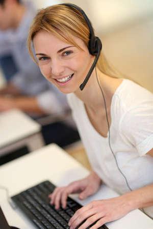 teleoperator: Portrait of sales service operator