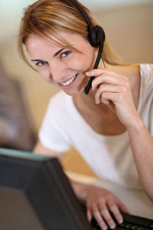 Portrait of sales service operator Stock Photo - 17826022