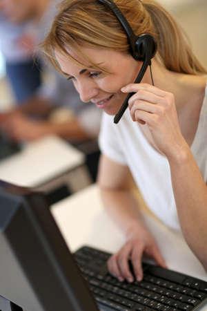 Portrait of sales service operator Stock Photo - 17826028