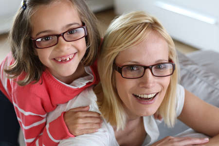 Mother and daughter with eyeglasses on Stock Photo - 18919026