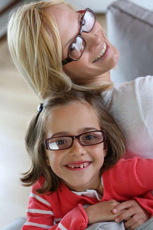 Mother and daughter with eyeglasses on Stock Photo - 18918982