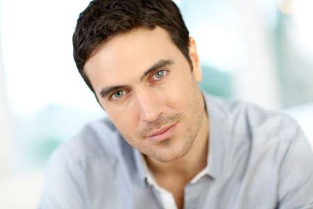 35 years old man: Portrait of handsome man with dark hair