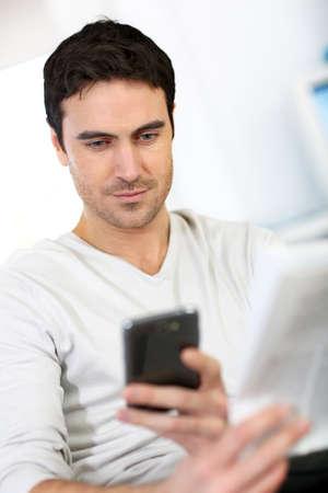Regular paper news and digital texts photo