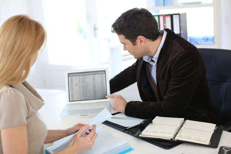 Woman meeting lawyer to set up her own business photo