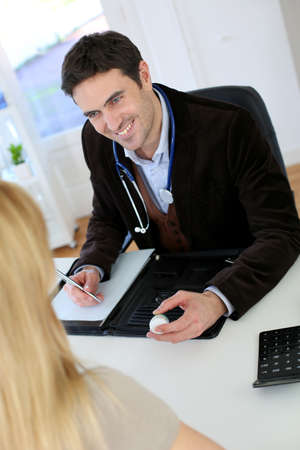 Lawyer meeting woman willing to open business photo