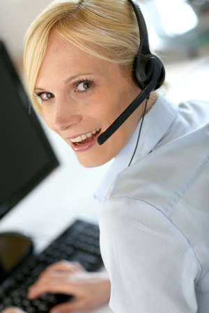 Portrait of beautiful customer service operator Stock Photo - 18939464