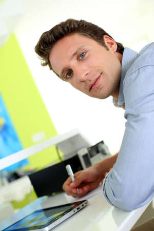 Portrait of man working from home Stock Photo - 19269924