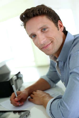 Portrait of man working from home Stock Photo - 19269931