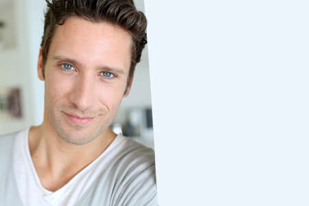 thirties portrait: Portrait of handsome man with blue eyes
