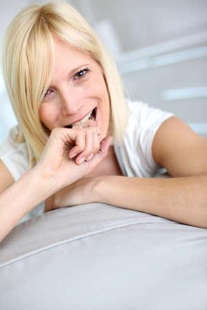 guilt: Portrait of blond girl feeling guilty